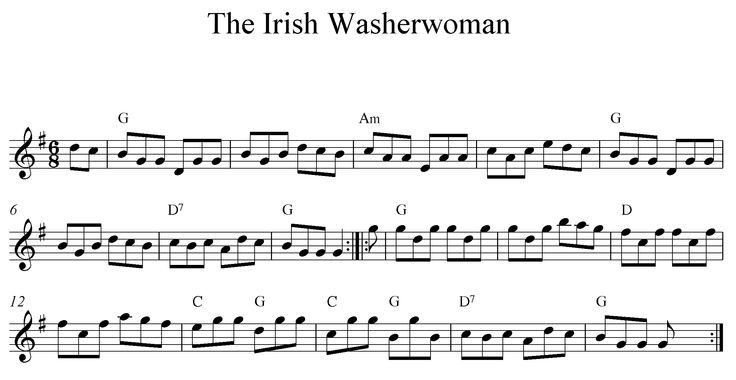 folk, violin, sheet music, the irish washerwoman