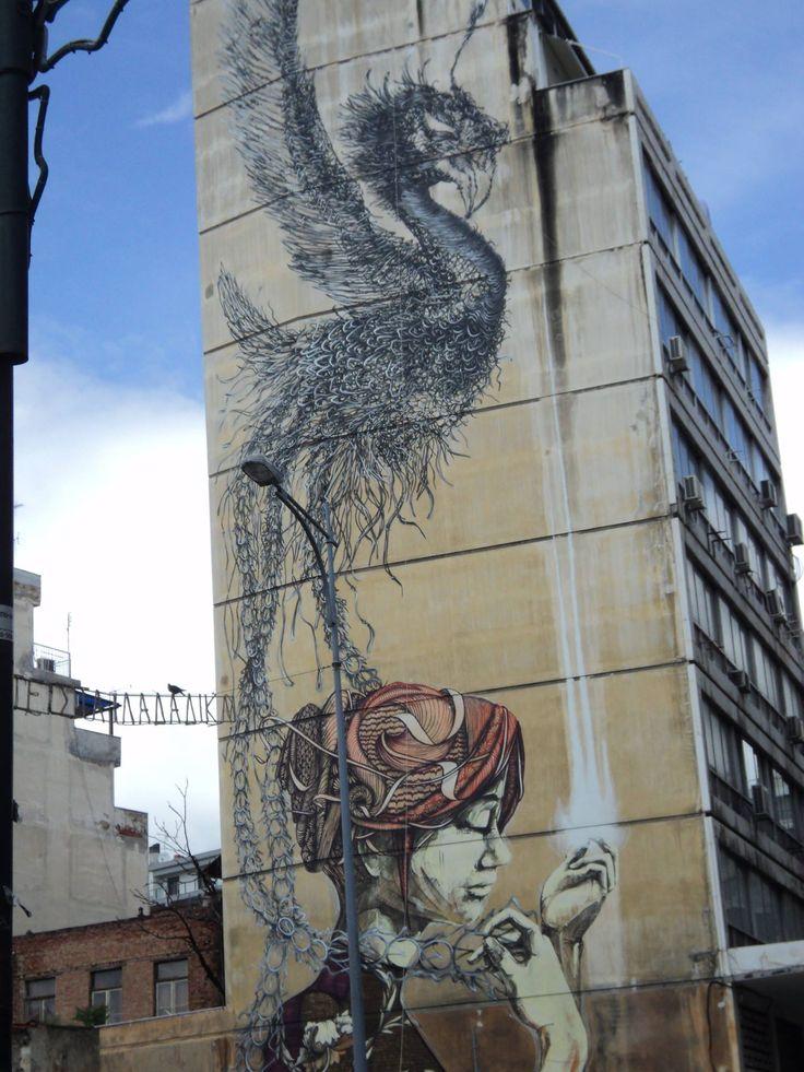 Street art in Thessaloniki!