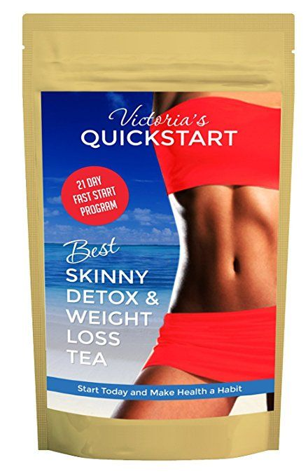 Best Skinny Detox Tea Weight Loss Waist Slimming, Diet Tea, Belly Fat, Fat Burner, Liver Cleanse, 8 Powerful Ingredients, 14 Days + 7 More Free! + $99 Quick Start Diet E-Book With Recipes Free!
