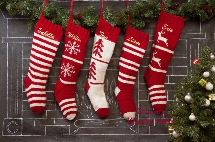 204 mejores imágenes de Knit Christmas Stockings en Pinterest ...