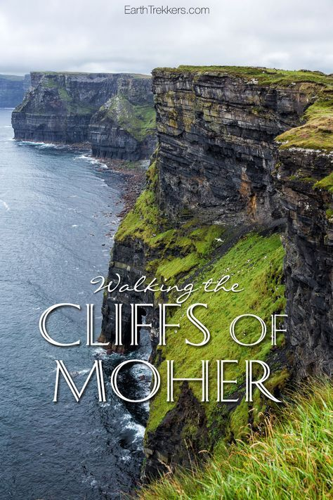 Cliffs of Moher, Ireland. Walking the Cliffs trail. Travel photography and inspiration.