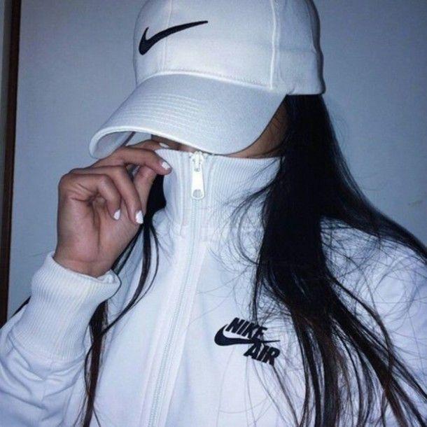 Jacket: nike air, white, black, nike air jacket, urban, hat, nike ...