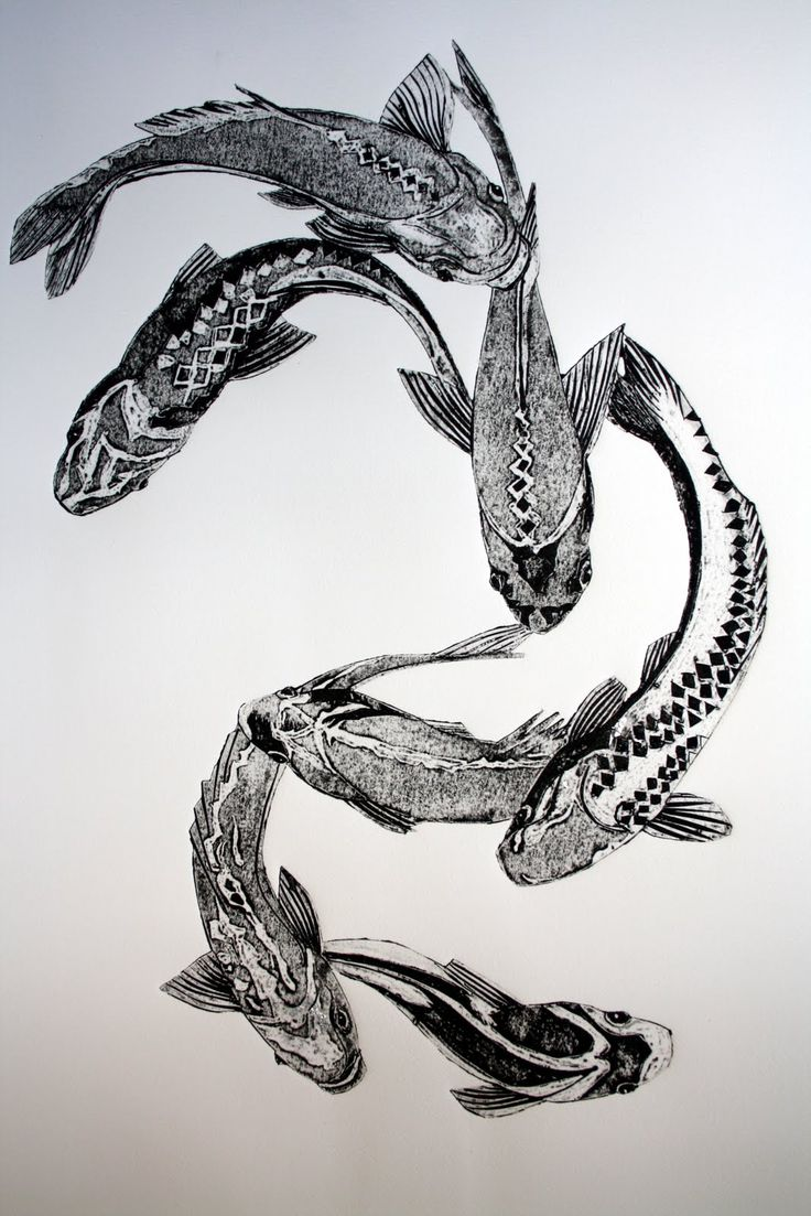 "Sue Brown. ""Fish"" it's nice that she's done a print of fish as a lot of her work seems to be Birds"