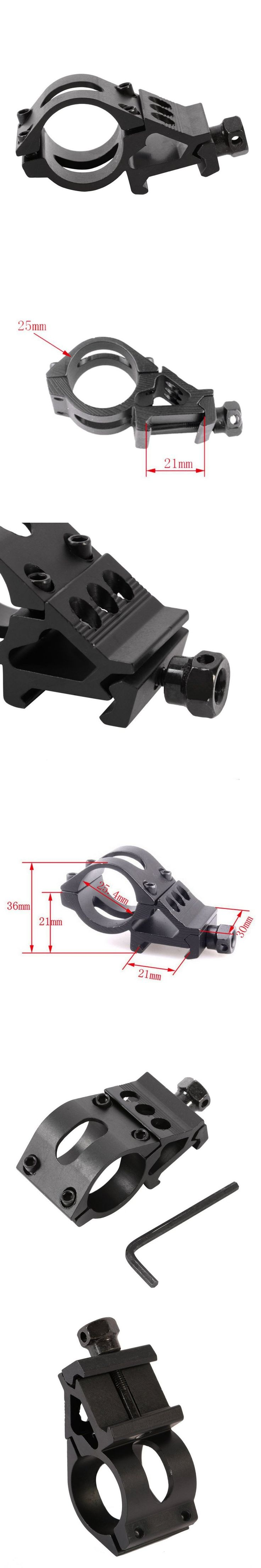 25mm Ring Tactical Scope Sight Flashlight Torch Laser Mounts + Allen Key for 20mm Standard Picatinny/Weaver Rail Hot Selling
