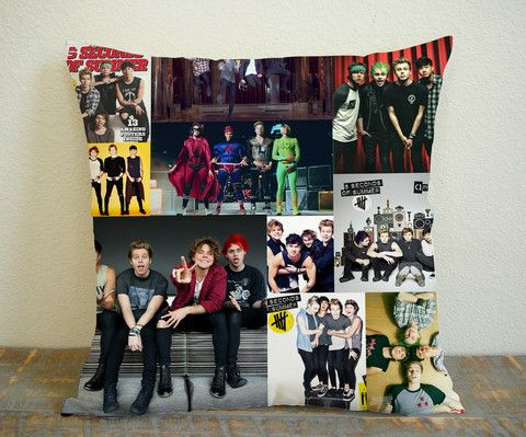 Five Second Of Summer Poster Collage Pillow Case 16x16 Two Sides, 18x18 Two Sides, 20x20 Two Sides