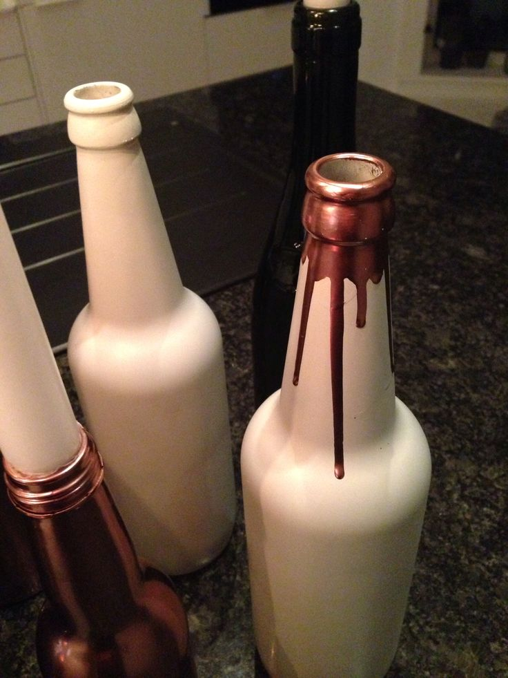 Candle and bottles #homemade #DIY
