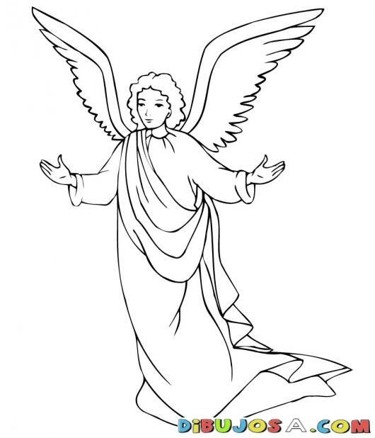 Dibujo del Angel Gabriel COLOREAR BIBLICOS Dibujo para