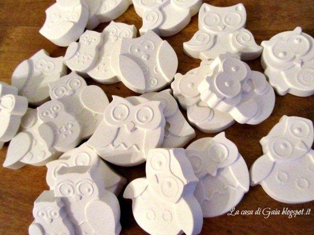 Gufetti in gesso profumato per bomboniere laurea, by ♥La casa di Gaia♥, 0,60 € su misshobby.com