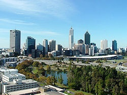 View of Perth, Western Australia from Kings Park