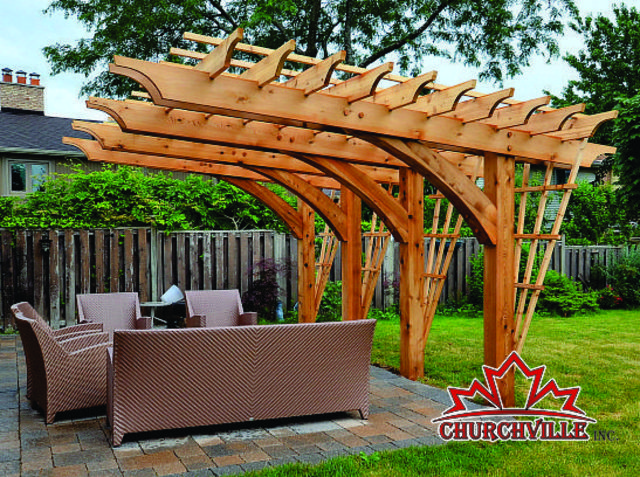 Churchville Cantilever Pergola Ideas Picture Back Patio