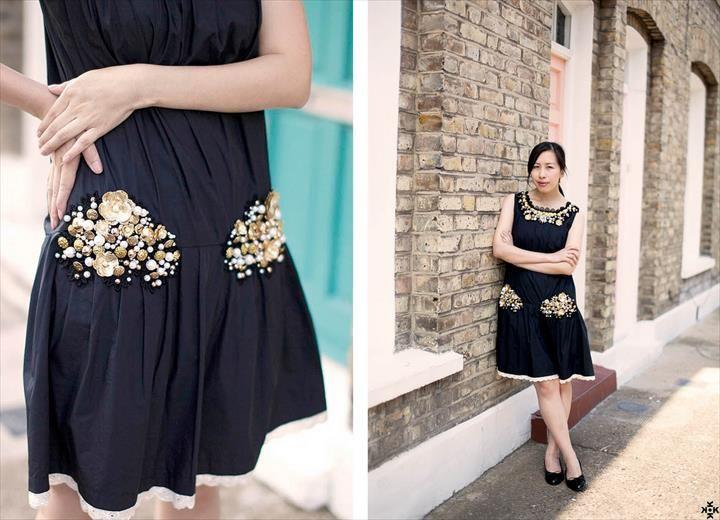Resultado de imagem para embellishing a plain dress diy