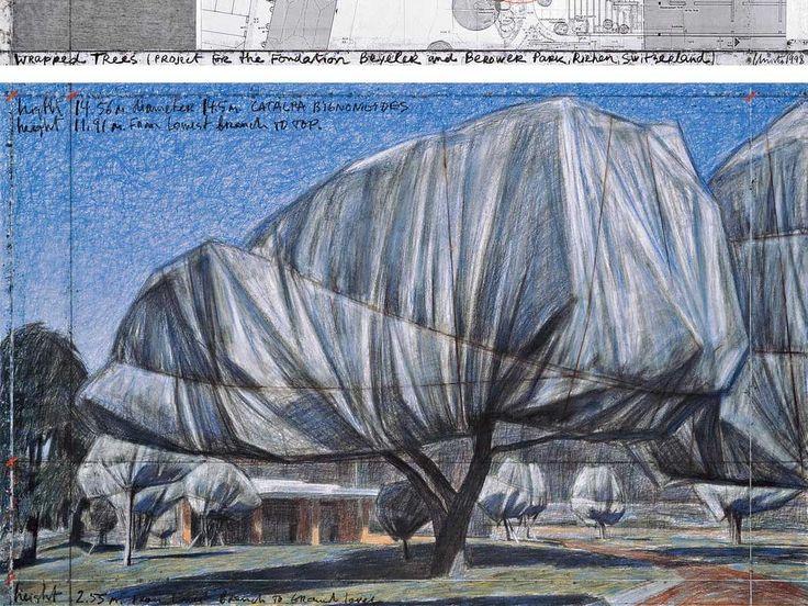 """Wrapped Trees"", Christo e Jeanne-Claude"