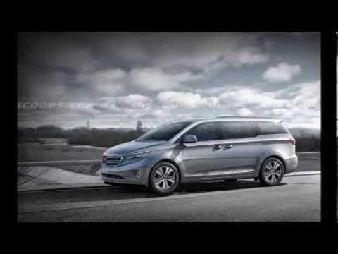 2015 KIA Sedona Carnival Minivan redesign renderings revealed - 3 3 lite...