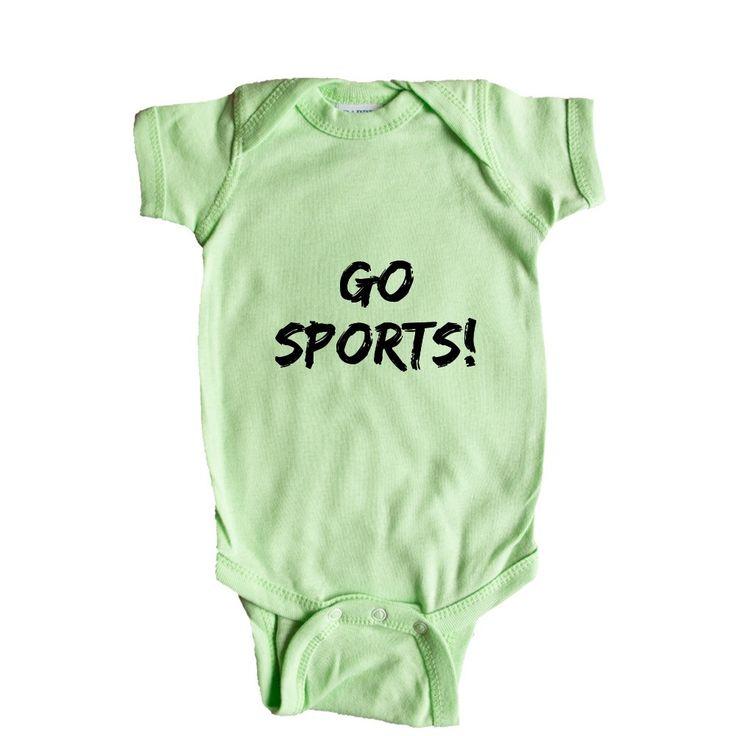 Go Sports Touchdown Fans Fanatics Joke Joking Sport Sporty Sports Soccer Football Basketball Baseball SGAL6 Baby Onesie / Tee