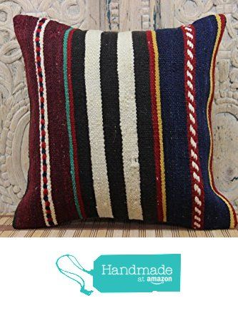 Anatolian kilim pillow cover 16x16 Handwoven Kilim pillow cover Turkish Kilim Pillow cover Kilim Bohemian Pillow cover Rustic Pillow Cover from Kilimwarehouse http://www.amazon.com/dp/B019CMUVLO/ref=hnd_sw_r_pi_dp_0a.Bwb01AD522 #handmadeatamazon