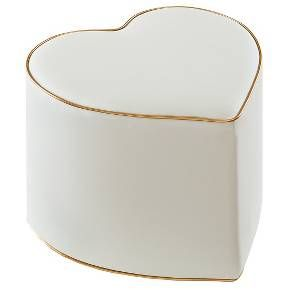 Oh Joy!® Heart Ottoman - Grey/Gold at Target. In person, the color is more greenish grey.  It's still very cute though.