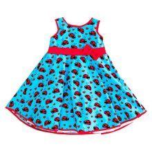 Φορέματα - Ρούχα Για Κορίτσια Για Πάρτι - Εκδύλωση :: Jelly Bean Kids Collection 2014 :: Jelly Bean Kids Εντιπωσιακό Καλοκαιρινό Φόρεμα με Εμπριμέ Πασχαλίτσες - MEMOIRS Νυφικά και Γυναικεία Φορέματα