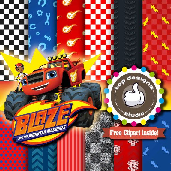 Blaze and the Monster Machines Digital Paper : by ...