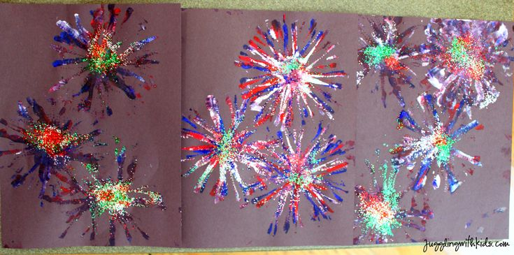 Juggling With Kids: Firework Painting