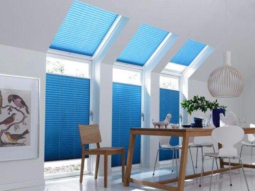 błękitne plisy - jasne wnętrza - nowoczesne projekty - minimalistyczne aranżacje