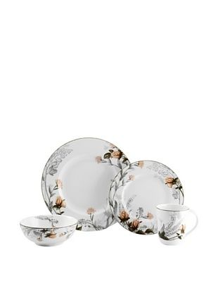 61% OFF Mikasa 4-Piece Chateau Garden Place Setting, White