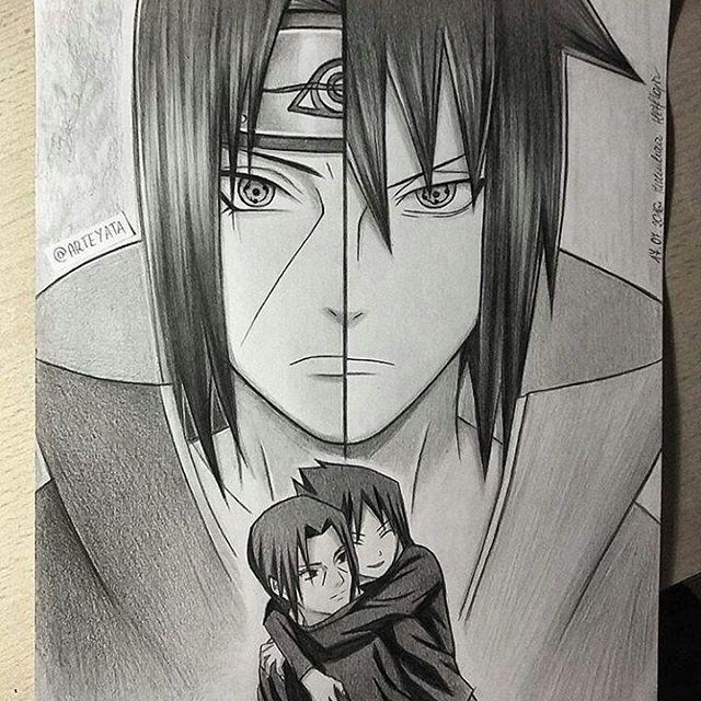 60 Best Naruto Drawings Images On Pinterest: Itachi And Sasuke Uchihas #sasukeuchiha #itachiuchiha