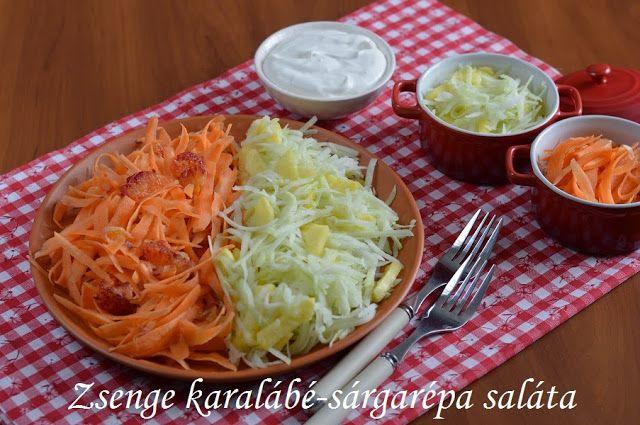 Hankka: Zsenge karalábé-sárgarépa saláta