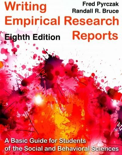 writing empirical research reports Definition: an empirical article is a research article that reports the results of a study that uses data derived from actual observation or experimentation parts of a standard empirical research article.
