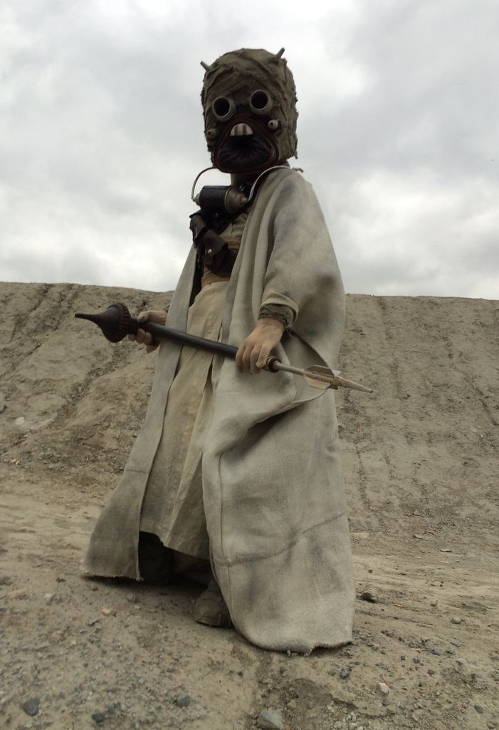 My 7 year old son as a Tusken Raider. Costume built from scratch.