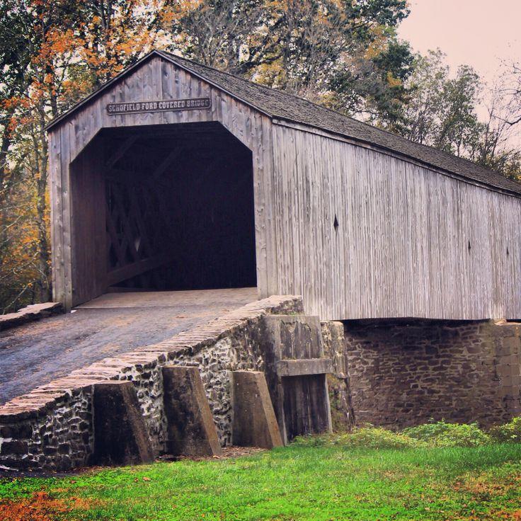 Covered bridge in Bucks County, Pa