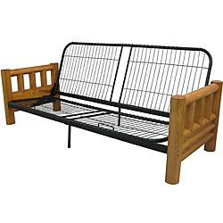 @Overstock.com - Enhance your home decor with a lodge futon frame  Living room furniture offers a distinctive cabin look  Furniture is the perfect sofa during the day and the perfect bed at nighthttp://www.overstock.com/Home-Garden/Yosemite-Queen-Rustic-Lodge-Futon-Frame/4430103/product.html?CID=214117 $256.49