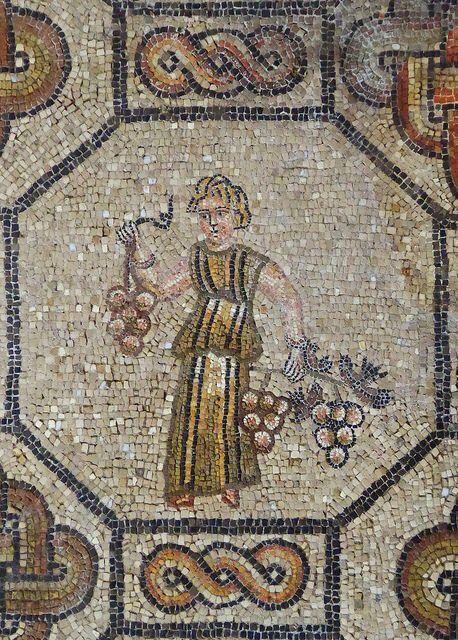 Personification of a season autumn mosaicos romano y mosaicos romanos - Azulejos roman ...