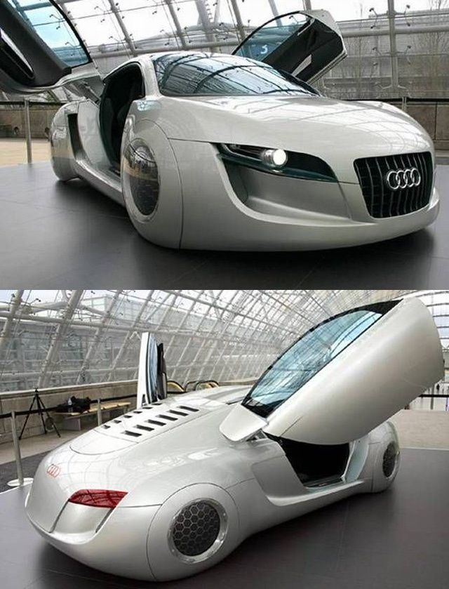 """Audi's futuristic concept car from the movie """"I Robot"""" with Will Smith."""