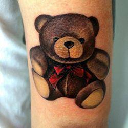 Teddy Bear Tattoo Design