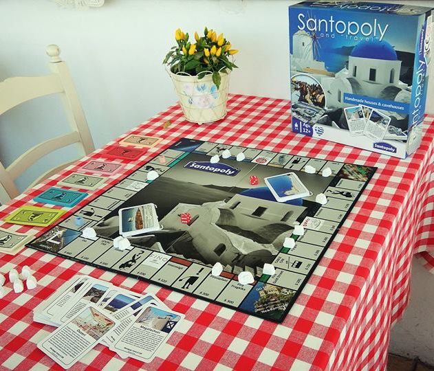 Santopoly @To Ouzeri | Santorini Board Game. Share lots of fun moments with the best real-estate board game that will travel you to this unique Greek island!