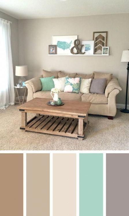 Natural pastel color living room color scheme ideas – SHW Home Decor #pastellivi… – living room décor