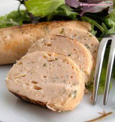 Boudin de saumon au basilic