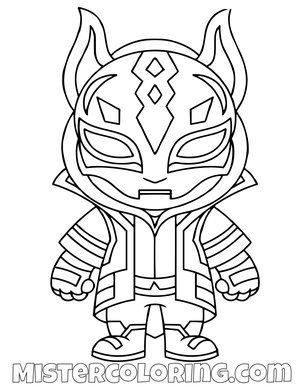 Drift Skin Chibi Fortnite Skin Coloring Page