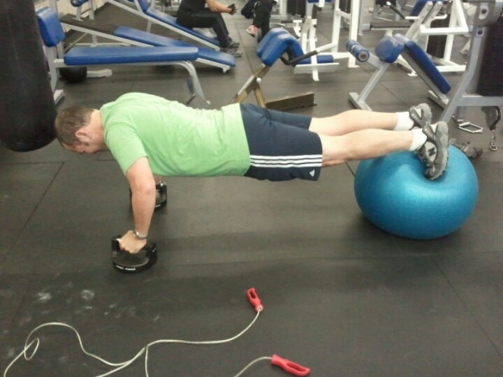 Try perfect pushups on a physio ball... Talk about rocking stabilizer muscles!