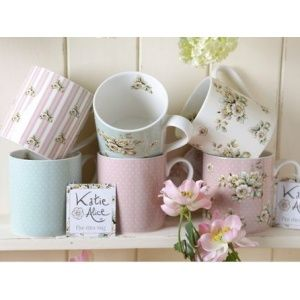 Katie Alice Cottage Flower Set van 6 mokken assorti SETMG2400