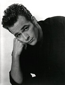 "Luke Perry...had a crush on him and met him in Miami. Funny that I married a ""Luke""...although my Luke is so much better looking!"