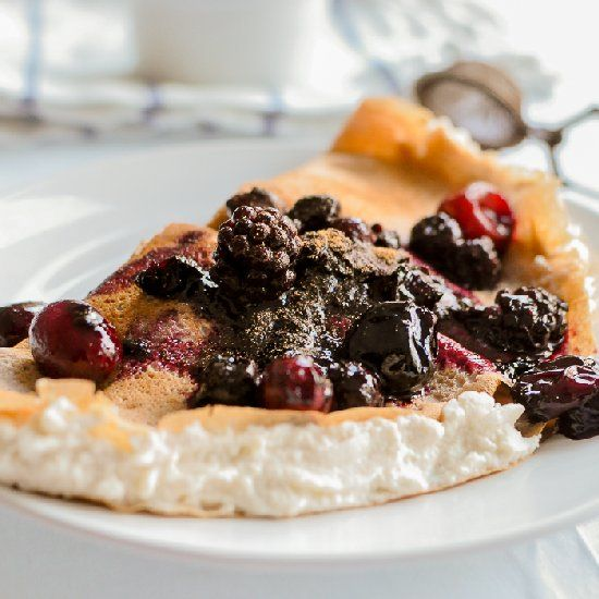 Gluten-Free Crepes made with Chestnut Flour, filled with Ricotta and ...