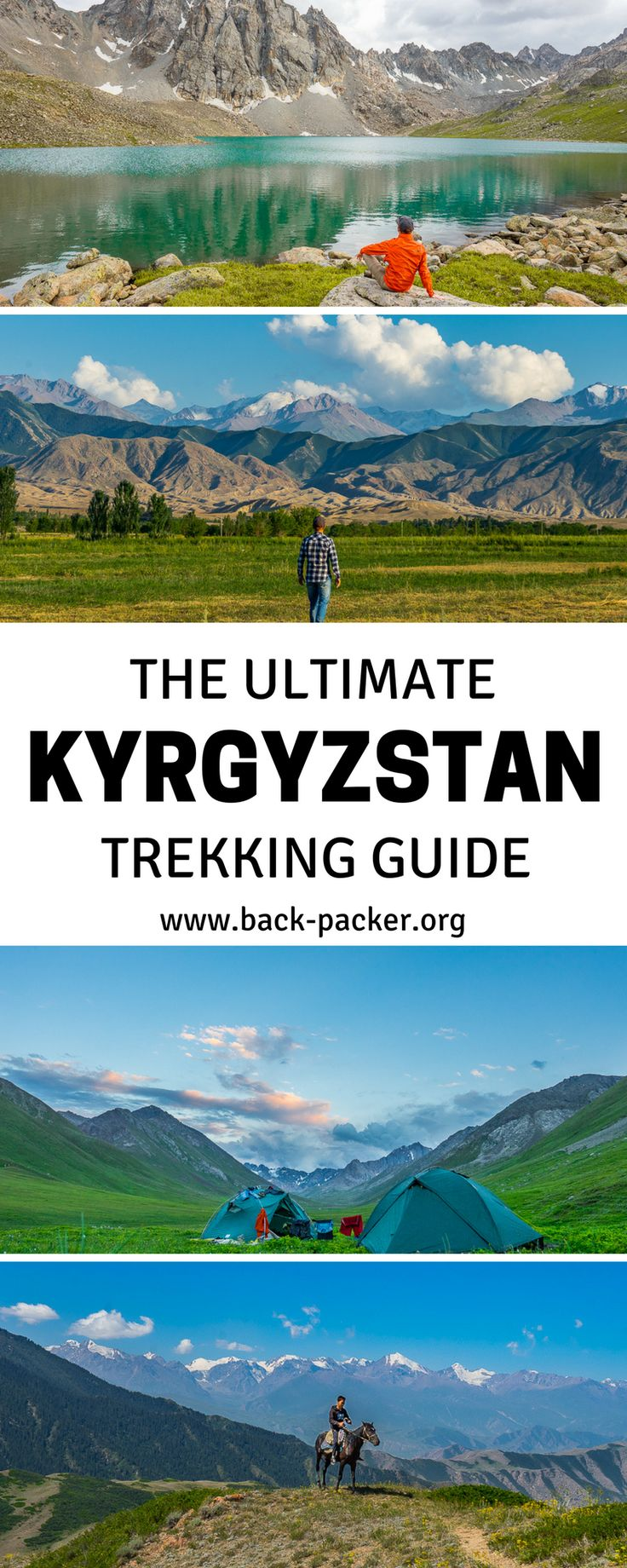 The ultimate guide to trekking through Kyrgyzstan, a Central Asian country situated along the Silk Route and known for its beautiful mountains and lakes and friendly people. Hike along hidden paths and discovery a country just waiting to be explored... Kyrgyzstan is truly the trip of a lifetime. | Back-packer.org #Kyrgyzstan
