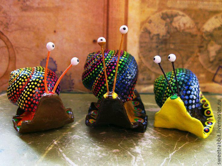 """Купить Мексиканские улитки """"Алебрихе"""" - мексика, радуга, улитки, украшение интерьера, хеллоуин, для цветов, счастье"""