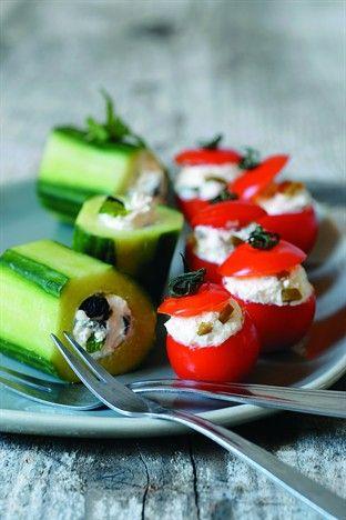 Tomates cerises et concombres farcis - Larousse Cuisine