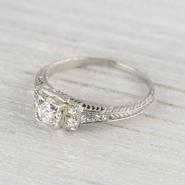 .40 Carat Art Deco Vintage Engagement Ring Circa 1920s $4,000