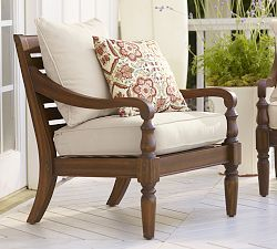 Wood Outdoor Furniture & Eucalyptus Patio Furniture   Pottery Barn