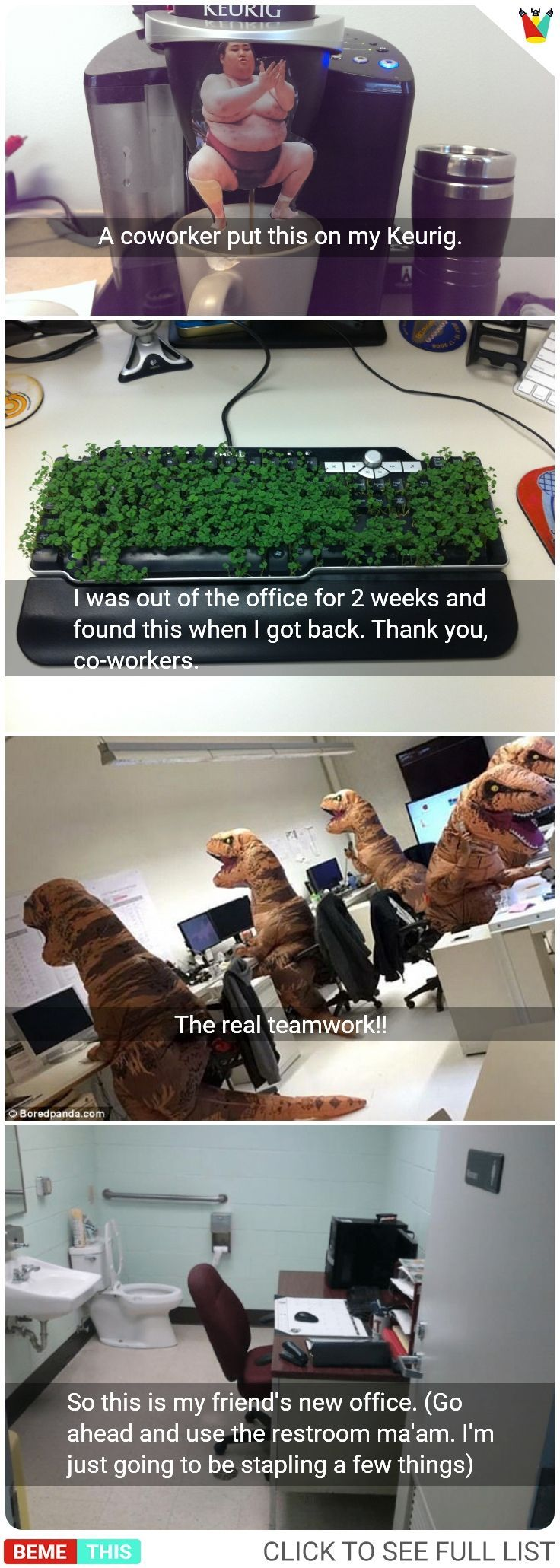 Over 10 funny office photos in which the employees …