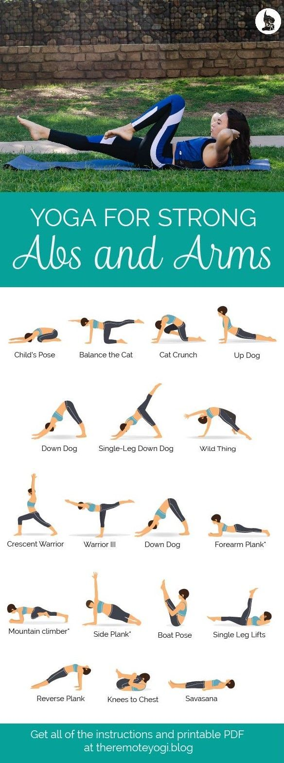 Yoga for Strong Abs & Arms – Free Printable PDF – The Remote Yogi