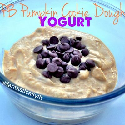 """Ripped Recipes - Pb Pumpkin """"Cookie Dough"""" Yogurt - Who says you can't have chocolate chips for breakfast! With this delicious breakfast you can! It is also great as a dip!"""